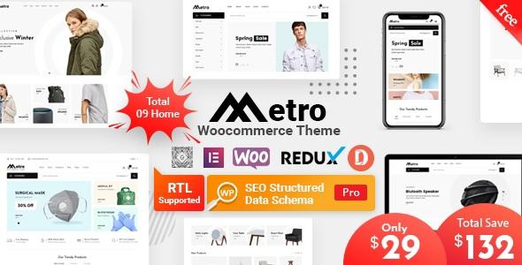 Metro — минимальная тема WordPress для WooCommerce