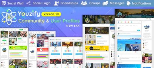 Youzify (formerly Youzer) +addons – сообщества и профили пользователей WordPress