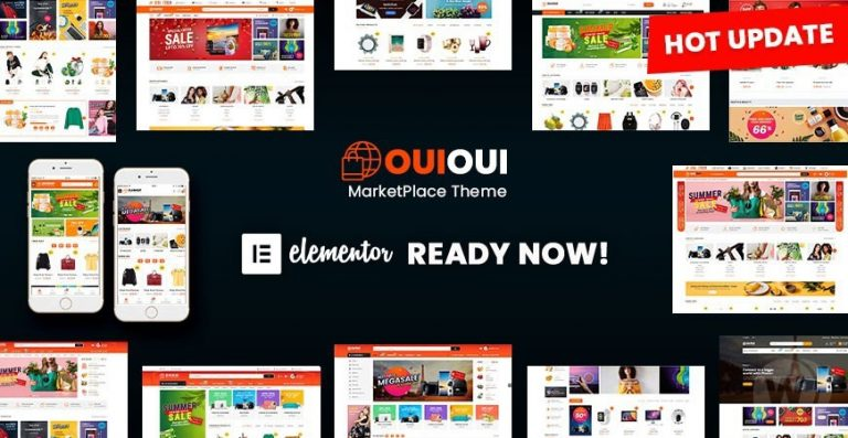 OuiOui — Multi Vendor MarketPlace Elementor WooCommerce Theme